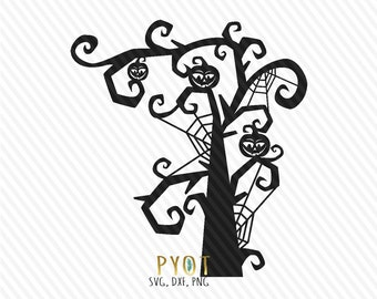 spooky tree clipart etsy rh etsy com free spooky tree clipart Scary Tree with Hole